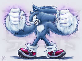 Sonic The Werehog! by FrancoTieppo