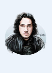 Jon Snow by EvelinaLindqvist