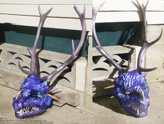 Dragon Movie Prop Mask- commissions available by HiddenTreasury