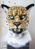 Jaguar Fursuit Head by HiddenTreasury