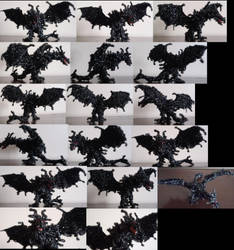 Pipe Cleaner The Elder Scrolls Skyrim Alduin by MetalliSnowLeopard
