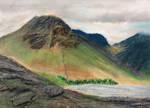 Landscape Study 003 - pastels by jerryhat