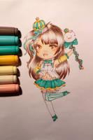 Kotori Chibi Drawing by LavelleArts