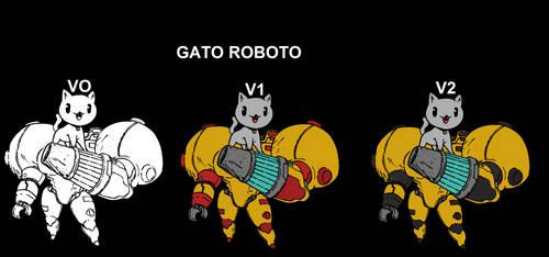 Gato-roboto colored by el-loco-jr