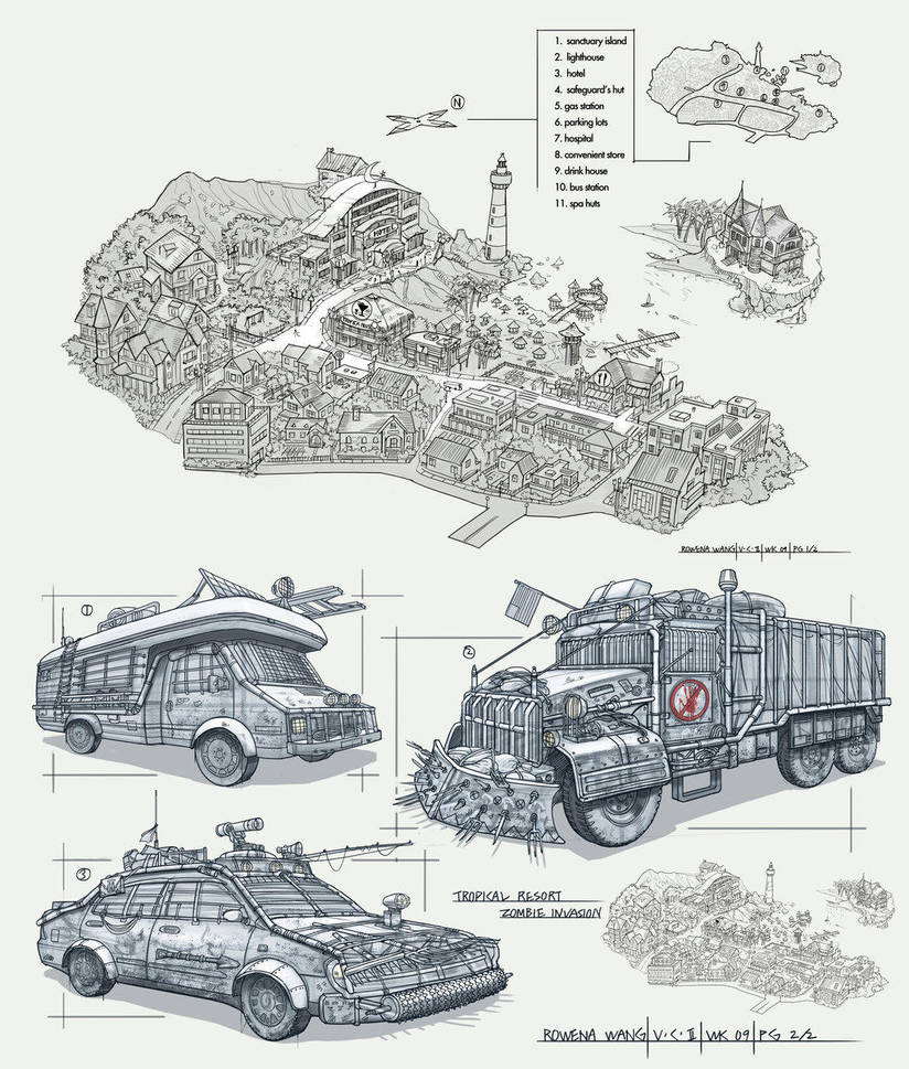 Zombie Invasion by rowenawangart