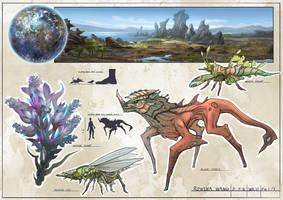 Alien Planet by rowenawangart