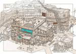 post apocalyptic slum village (1) by rowenawangart