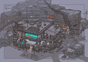 post apocalyptic slum village (2) by rowenawangart