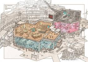 post apocalyptic slum village (3) by rowenawangart
