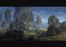Rock (1) by rowenawangart