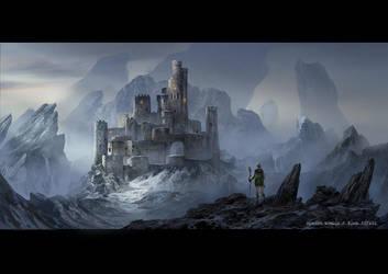 Snow Castle by rowenawangart