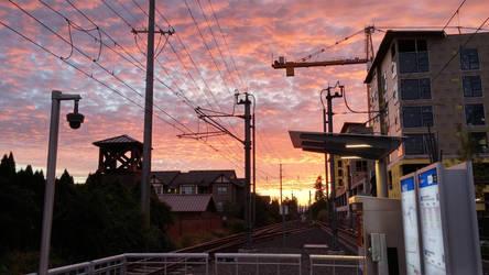 Sunset in Hillsboro by IvanCauldwellart