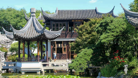 Chinese Garden-5 by IvanCauldwellart