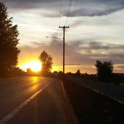 Evening Commute by IvanCauldwellart