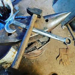 Forged wrench hammer by IvanCauldwellart