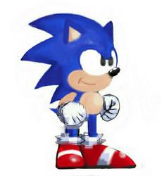 Sonic The Hedgehog (Work In Progress) by xXPowerSurgeXx