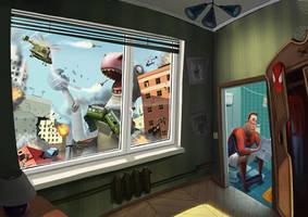 spider man by maxkostenko
