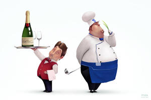 Cook and waiter by maxkostenko