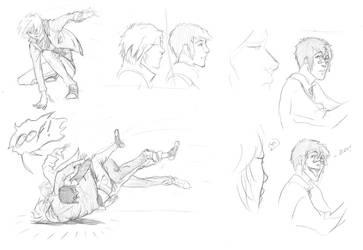 NaNo'09 sketches by Macrea