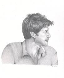 DRAWING 1 - Joe Flanigan by le-mot-art