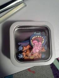 Stitch Mini 3-D art Magnet by Animeartist1212