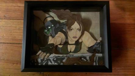 Lara Croft 3-D art by Animeartist1212