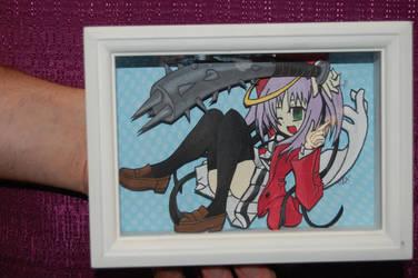Dokuro-chan 3-D paper art by Animeartist1212