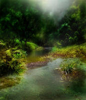 Dark Stream Background 1 by GoblinStock