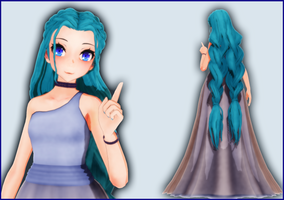 MMD Tda Miku update)) by Boneria