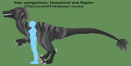 Size Comparison: Humanoid and Raptor by LadyAlluvia