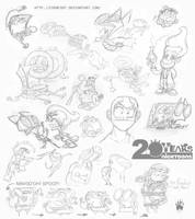 Nicktoons Take a Sketch Dump 1 by RaccoonFoot