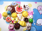 Clay Charm Collection by funkypinkgal