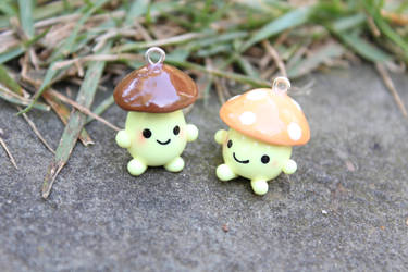 Clay Mushrooms by funkypinkgal