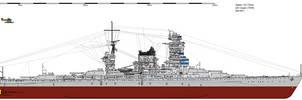 Kii-class Battleship (1939) by ijnfleetadmiral