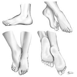 A.I. Prompt1: Feet by XBlack-MistX