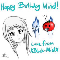HAPPY BIRTHDAY WIND! by XBlack-MistX