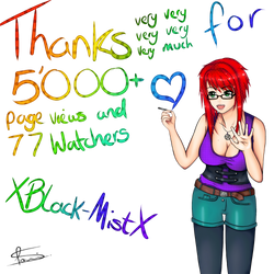 THANK YOU FOR 5'000+ PAGEVIEWS! by XBlack-MistX