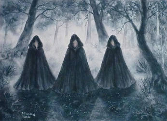 Mysteries of the Cloaked Figures. by SueMArt