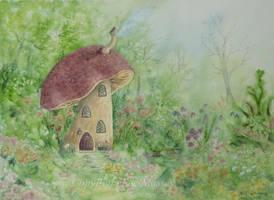 The Mushroom House. by SueMArt