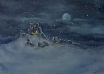 Castle Ruin in the Moonlight. by SueMArt