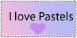 I Love Pastel Colours Stamp by Apricot-Specific