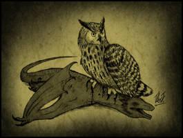 Dragon-eating Owl by TheJuras