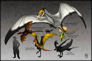 Ornithotarsia : Wyverns of The World by TheJuras