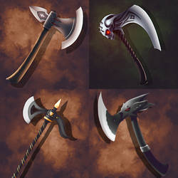 Commission: Battle Axes by elsinrostro