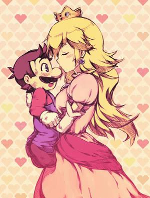 Happy Valentine's Day Mario by kiraDaidohji