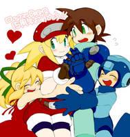 Megaman and Roll by kiraDaidohji