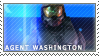 Agent Washington Stamp by P0SSUMS