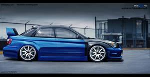 Subaru Impreza WRX STI side by edcgraphic
