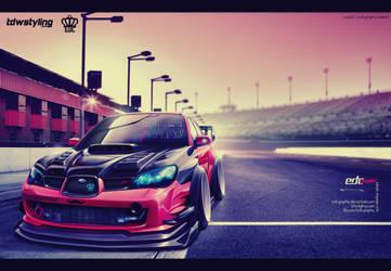Subaru Impreza WRX Peach-edcgraphic by edcgraphic