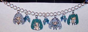 Hatsune Miku Charm Bracelet by jordannamorgan